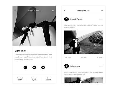 Mobile Blogging Concept apple design contact social blog ui app