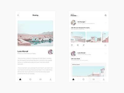 Travel Guide app social color ui design app ui travel