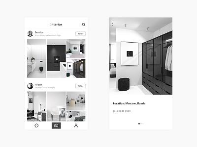 Interior Design font mobile ui design app ui interior design