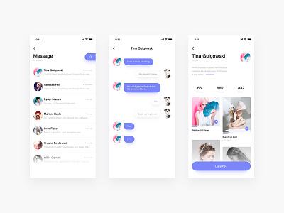 Date her design color ios ui design mobile app ui