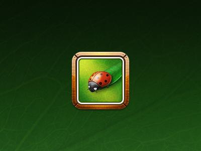 Photos icon icon icons ios iphone4 retina display ladybird border leaf texture
