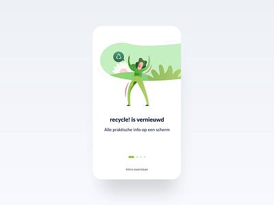 Recycle! branding app branding digital branding recycling recycle app design application app experience design digital design ui visual design