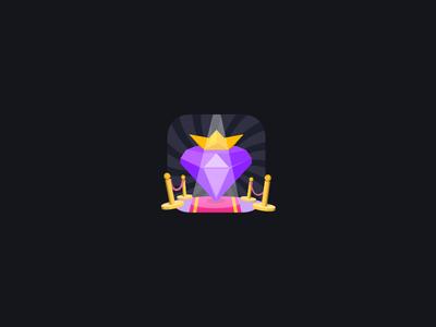 Purple Diamond In Spotlight