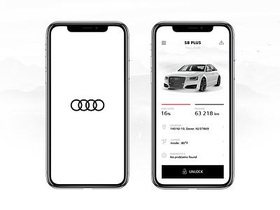 Audi MMi Connect Application concept minimal minimalism desktop simple layout ui ux iphone ios design app
