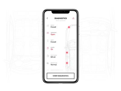Audi MMi Connect Application app design ios iphone ux ui layout simple desktop minimalism minimal concept