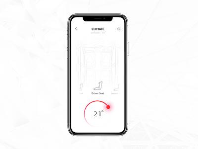 Audi MMi Connect Application concept minimal minimalism simple layout ui ux iphone ios design app