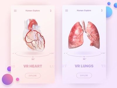 VR Anatomic Application ui product medical medecine iphone ios interface design concept application app