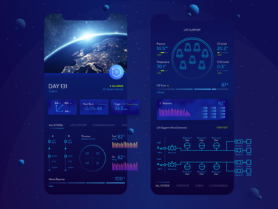 Space X Dragon Interface ui product iphone ios interface design concept spacex application app