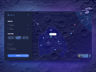 Drone Taxi Application ui spacex future moon interface design concept application app
