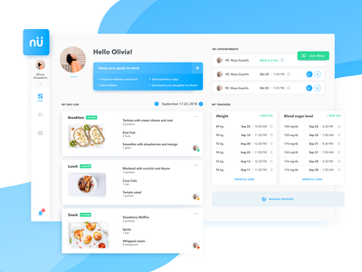 Nutrimedy - Telehealth Platform - Patient Dashboard