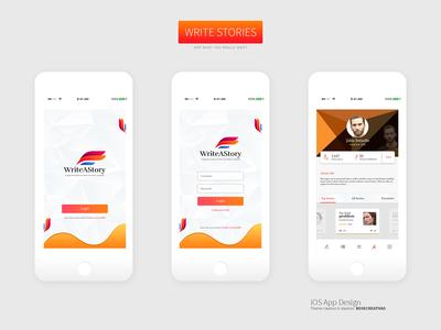 Write A Story App Screens