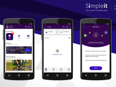 Simpleit App All Screens - Let your sharing thoughts easy