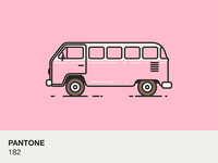 Pantone colour bus