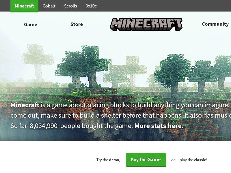 Minecraft net Redesign by Enrico Martelli on Dribbble