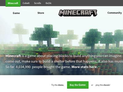 Minecraft.net Redesign