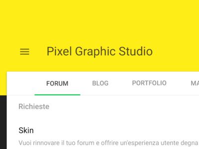 Material design forum layout