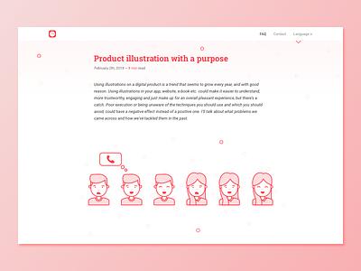 Scheduled Blog web web design design typography scheduled app scheduled post nav bar illustration blog post blog