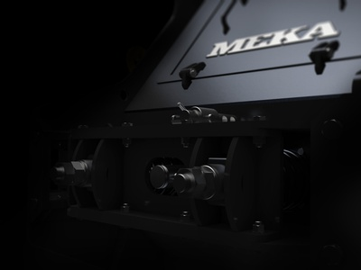 3D renders for mekacrushers.com details product page landing page 3d render 3d branding