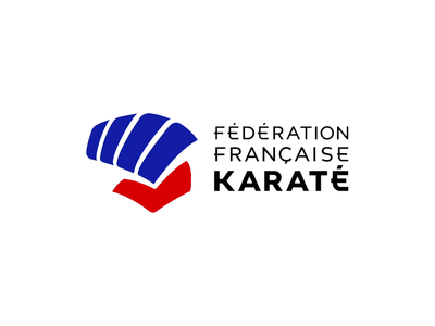 Animated logo of the French Karate Federation motion design logo animation animated logo