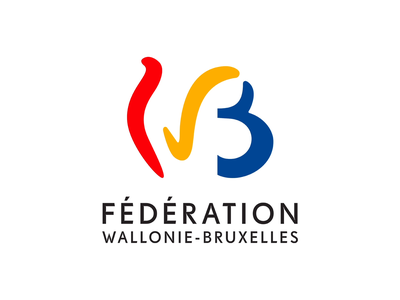 Animated logo of Wallonia-Brussels Federation animated illustration motion design logo animation animated logo