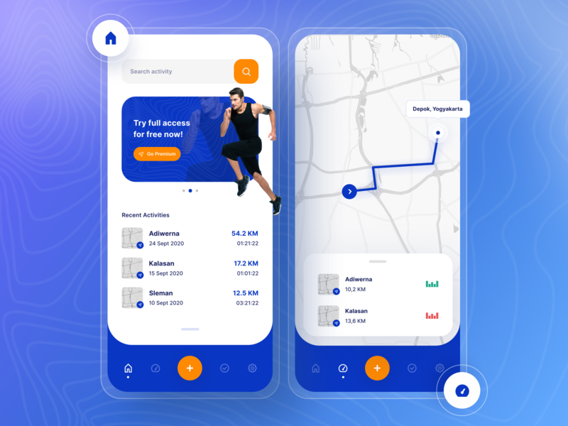 CEKER - Running Tracker App (Iconhub) running tracker user experience user interface mobile app design pattern motion running app sport app trend minimalist inspiration light minimal elegant simple clean mobile design mobile ui mobile mobile-app
