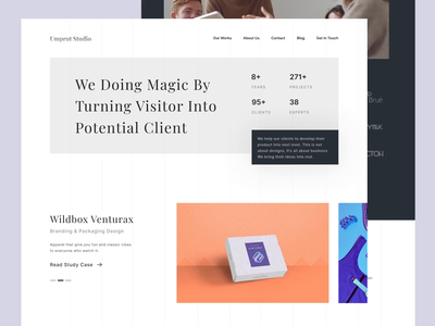 UMPRUT - Studio Design Landing Page homepage card ux user interfaces ui services service portfolio web design agency minimal web web design website trend minimalist inspiration light minimal elegant simple clean