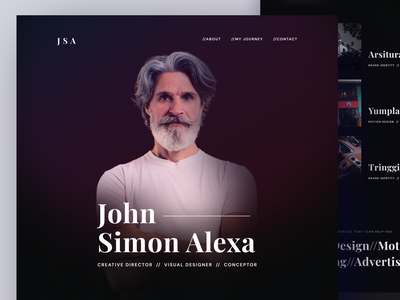JSA - John Simon Alexa Portfolio Website clean resume portfolio web portfolio page landing page homepage trend dark website light minimalist inspiration simple minimal elegant clean ui clean