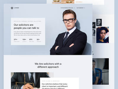 LAYWER - Lawyer Agency Landing Page lawyer agency lawyer landing page lawyer website landing page design web design homepage landing page trend website light minimalist inspiration simple minimal elegant clean lawyer