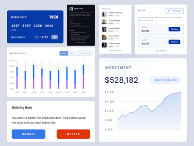 UI Component - Duweteroz Dashboard UI Kit dashboard template invoice investment financial dashboard financial app web app dashboard design dashboard ui ui component component ui kit dashboard website light minimalist inspiration simple minimal elegant clean