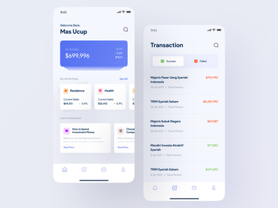 uStock - Investment App banking app wallet ios mobile app design finance app financial trading app investment app invest app mobile app user interface design ui light minimalist inspiration simple minimal elegant clean