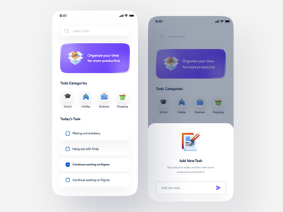 Kudu Dadi - Todo List App Exploration android app checklist task list form activity todo list ios app design user interface ui trend light minimalist inspiration simple minimal elegant clean