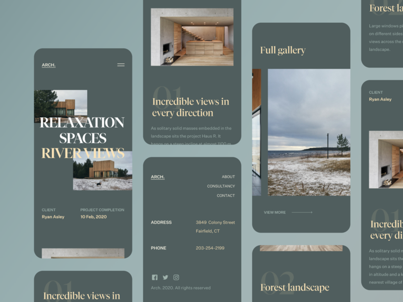 Residential Showcase - Responsive View layout responsive concept typography dark fireart studio fireart clean minimal ios mobile web interface ux design ui