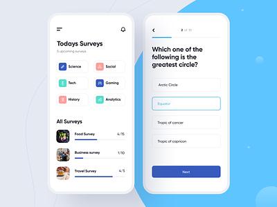 Survey App concept survey app product illustration clean minimal ios mobile interface app ux design ui