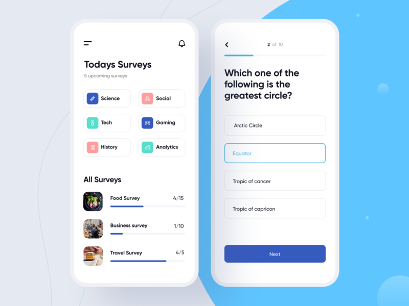 Survey App concept survey app product illustration clean minimal ios mobile interface app ux design ui