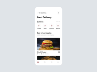 Food Delivery App Interaction motion interactions uianimation fireart studio animation minimal clean mobile interface ios app ui ux design