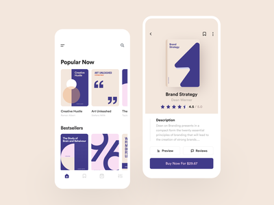 Book Store App 📙 - Freebie fireart studio illustration typography store book uidesign mobileapp figma freebie fireart minimal clean mobile interface ios app design ux ui