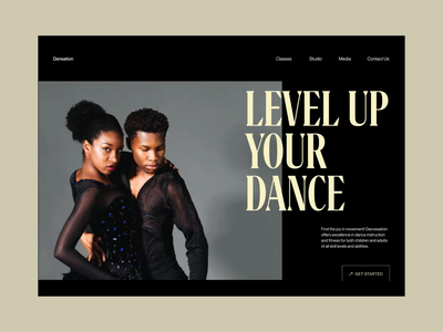 Dansation - Website Interaction studio dance dance academy ui animation typography interaction design interaction motion animated fireartstudio concept web fireart minimal clean interface design ux ui