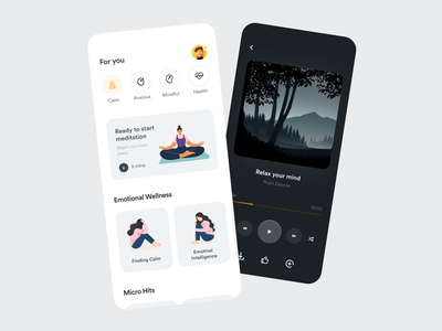 Soulwise App - Home typography meditation app calming meditation concept fireart mobile minimal ios clean interface app design ux ui