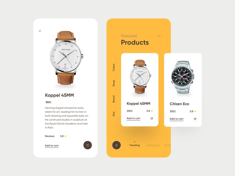 Watch App UI fireart flat ios mobile interface app design ux ui