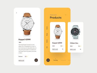 Watch App UI fireart flat ios mobile interface app design ux ui
