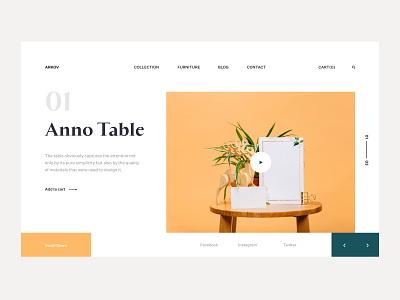 Anno Table icon typography style fireartstudio fireart landingpage minimal clean app branding flat interface web ux design ui