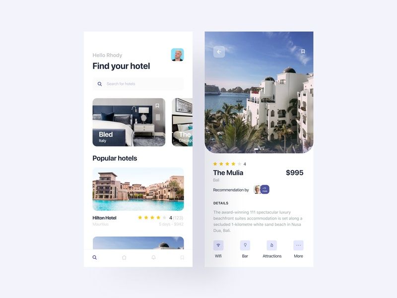 Hotels fireart studio fireart hotel booking hotel iphonex booking iphone digital concept simple clean minimal mobile ios interface app ux ui design