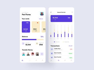 Wallet App 01 fireartstudio fireart product userinterface uidesign concept clean minimal flat ios mobile interface app ux design ui