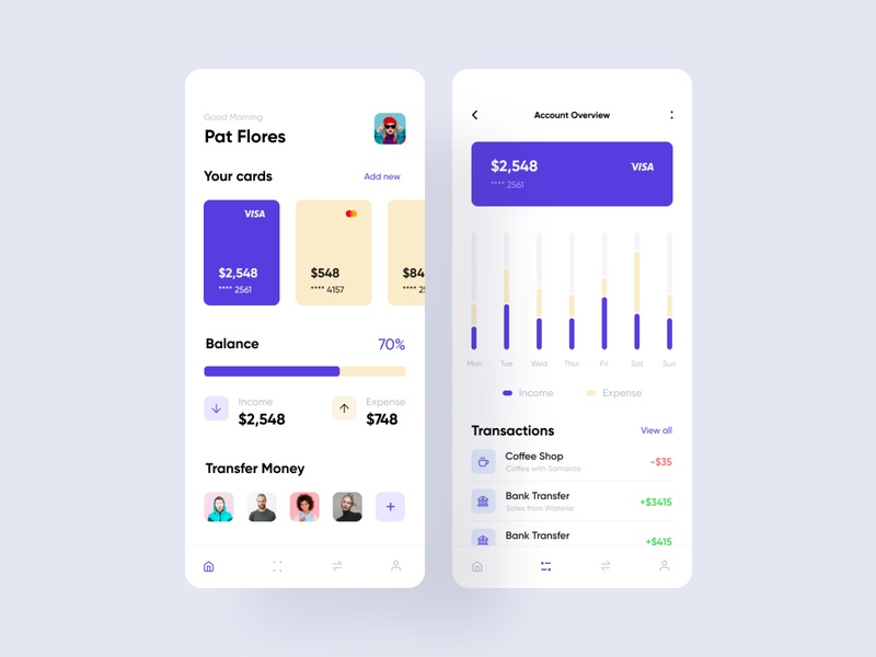 Wallet App 01 fireartstudio fireart product userinterface uidesign concept clean minimal flat ios mobile interface app ux design ui