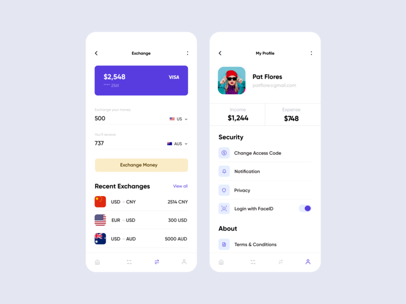 Wallet App 02 uxdesign app design fireartstudio fireart sketch simple concept color clean icon typogaphy minimal ios mobile interface app ux design ui