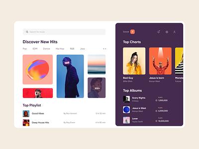 Music Web App fireartstudio fireart icon product design exploration card web design clean music website interface minimal web app ux design ui