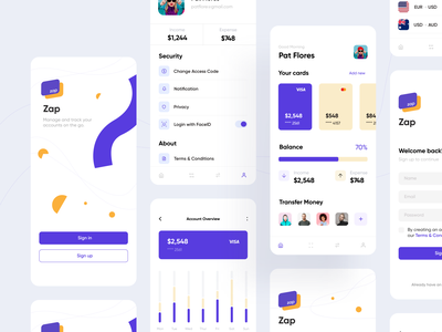 Wallet App Design clean minimal illustration ios mobile interface app ux design ui