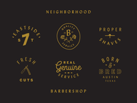 Type tricks for a new barbershop coming to the east side...
