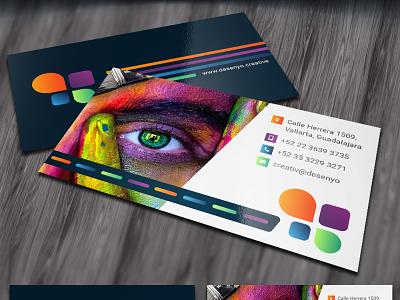 Desenyo businesscards businesscard minimal flat design branding
