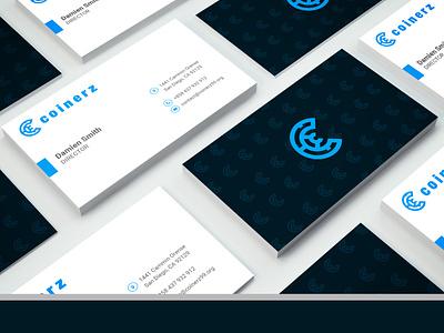 Cryptocurrency Logo and Business Card design vector minimal flat logo design businesscards business branding brand logo
